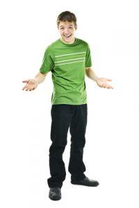 smiling teen boy