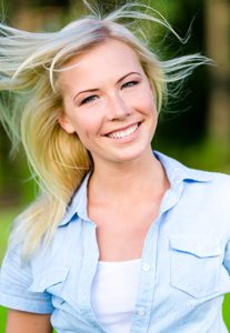 blond hair blown